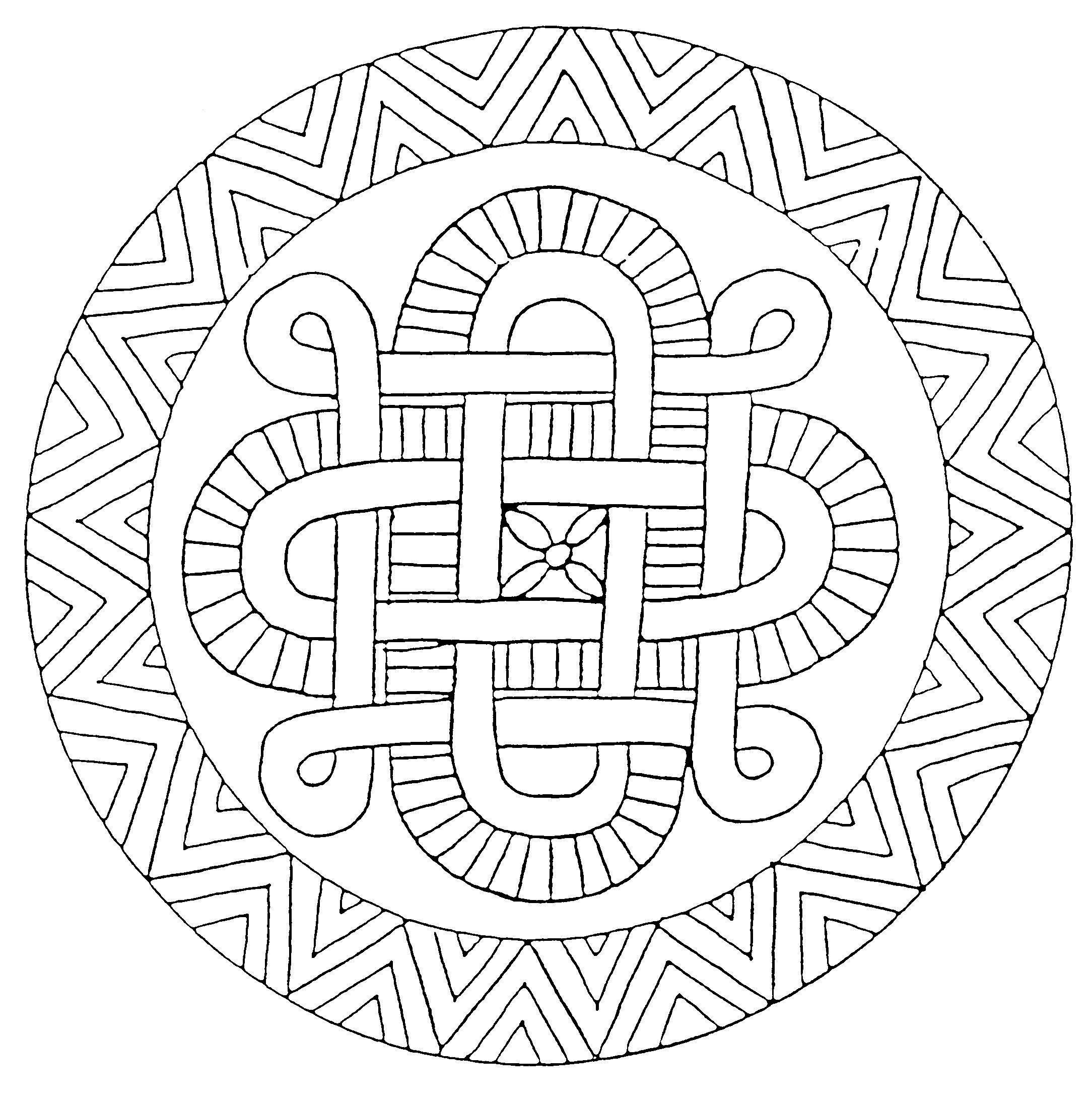 Coloriage mandala et dessin imprimer et colorier - Dessins de mandala ...