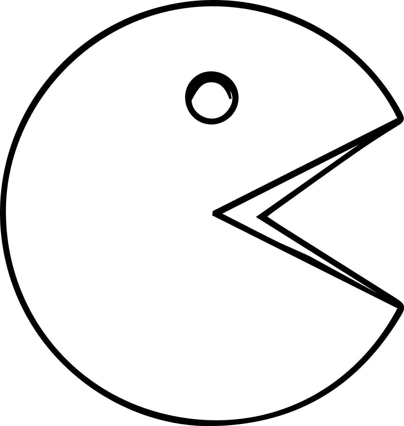 Coloriage Pac Man Gratuit Et Dessin A Imprimer