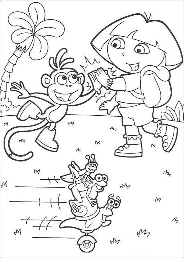Dora coloriage