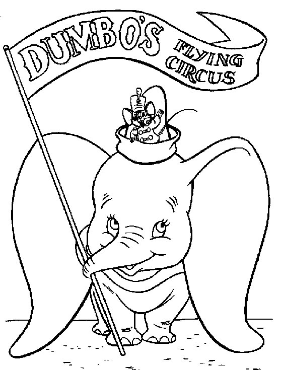 Dumbo coloriage
