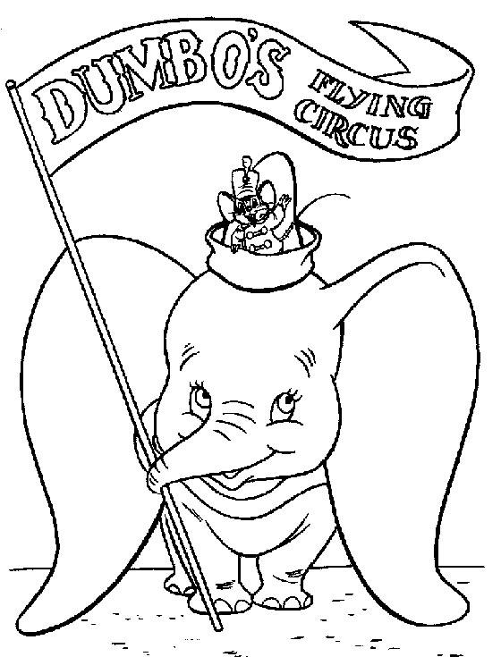 Dumbo coloriage