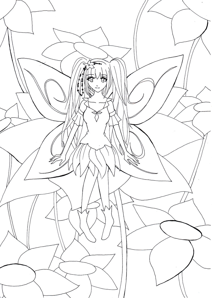 Fée manga dessin