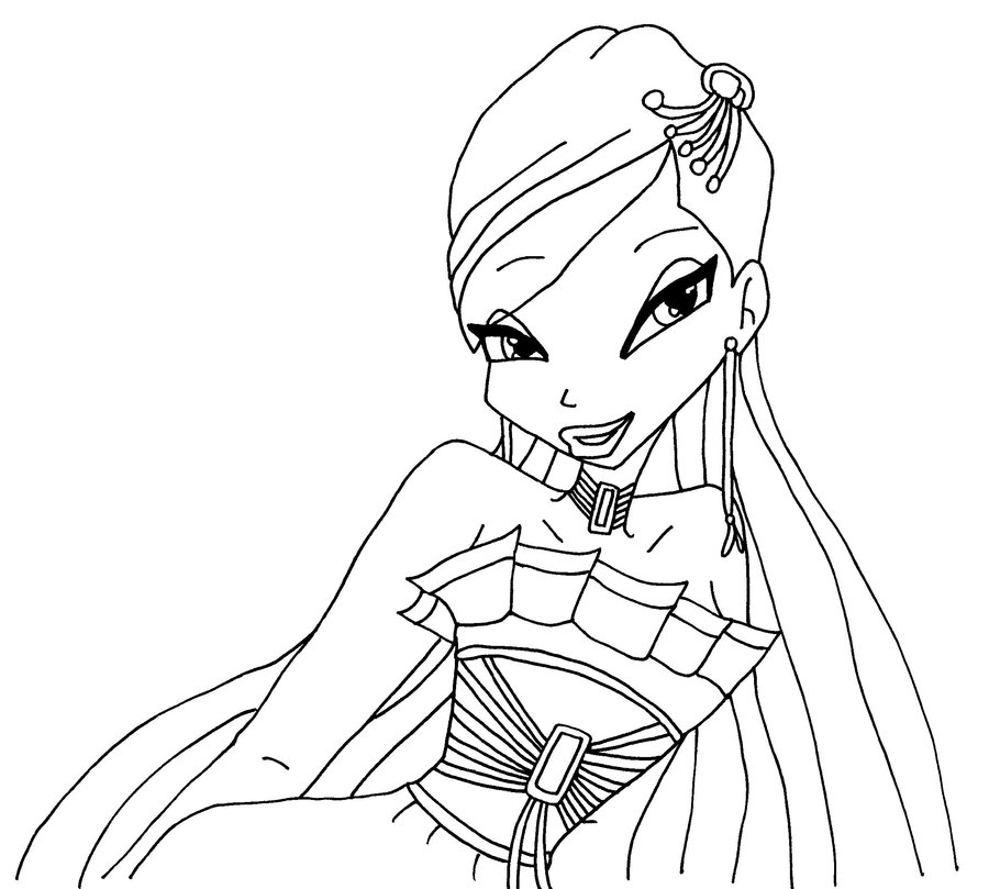 fee coloriage winx club