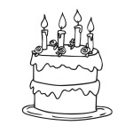 Gateau anniversaire dessin