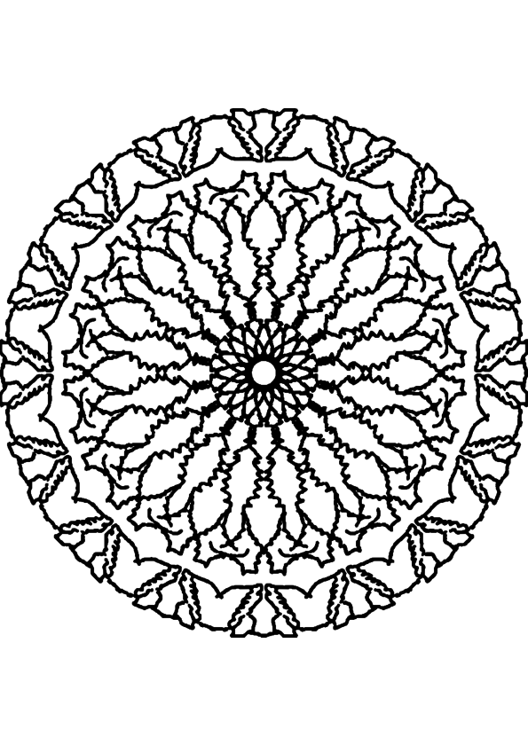 Mandala adulte coloriage