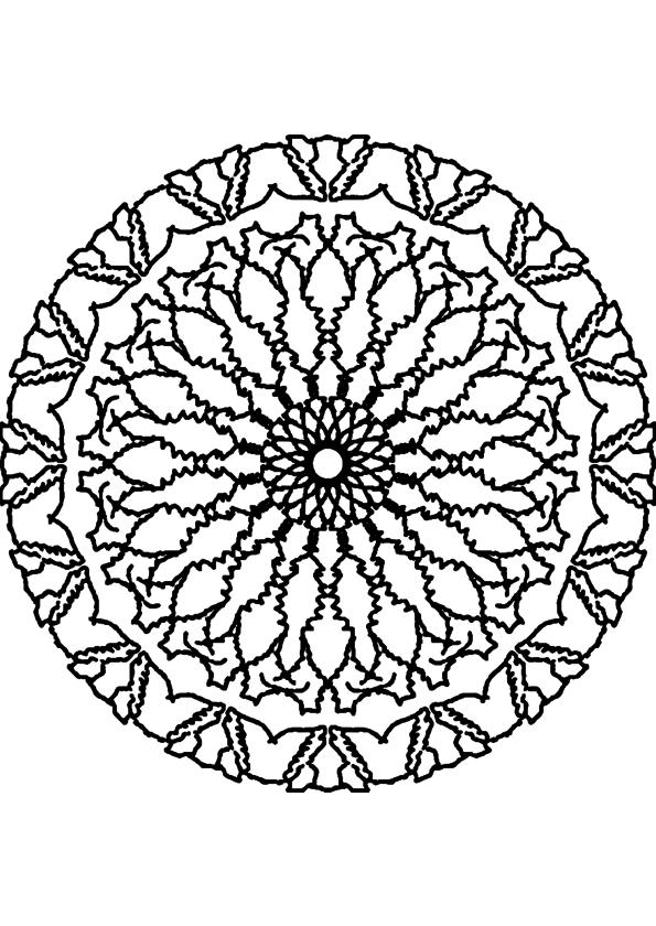 Mandala adulte coloriage
