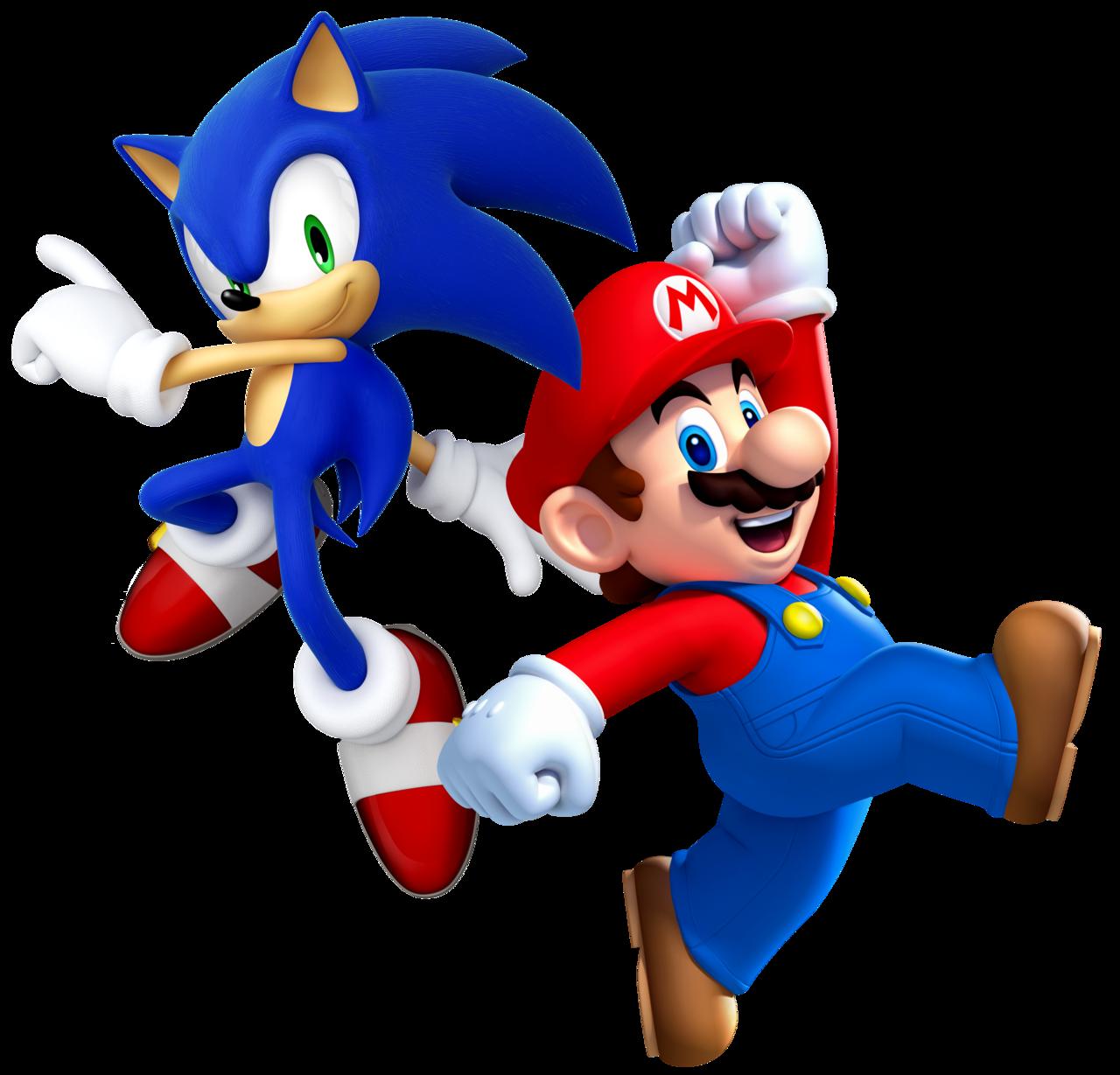 Coloriage Mario Et Sonic A Imprimer