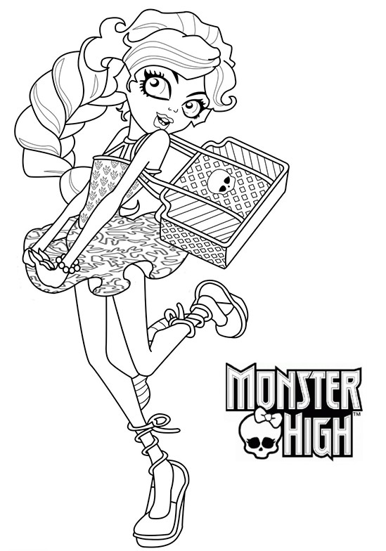 Monster High ecoliere coloriage