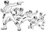 Power Rangers coloriage