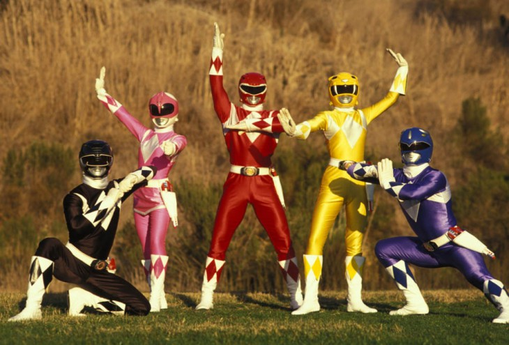 Power Rangers fond
