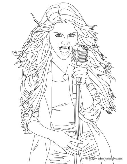 Coloriage selena gomez et dessin colorier - Selena gomez dessin ...