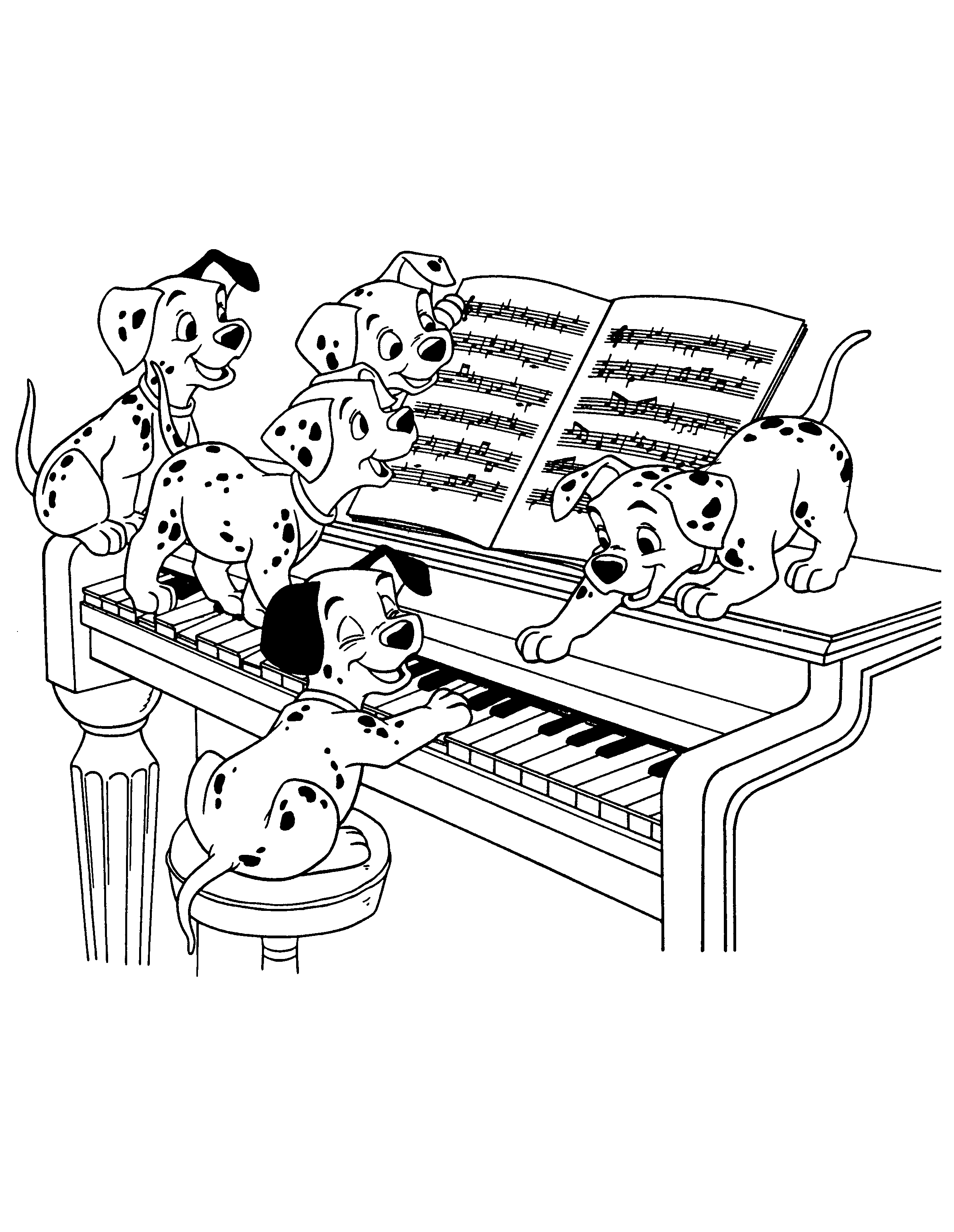 102 dalmatiens coloriage