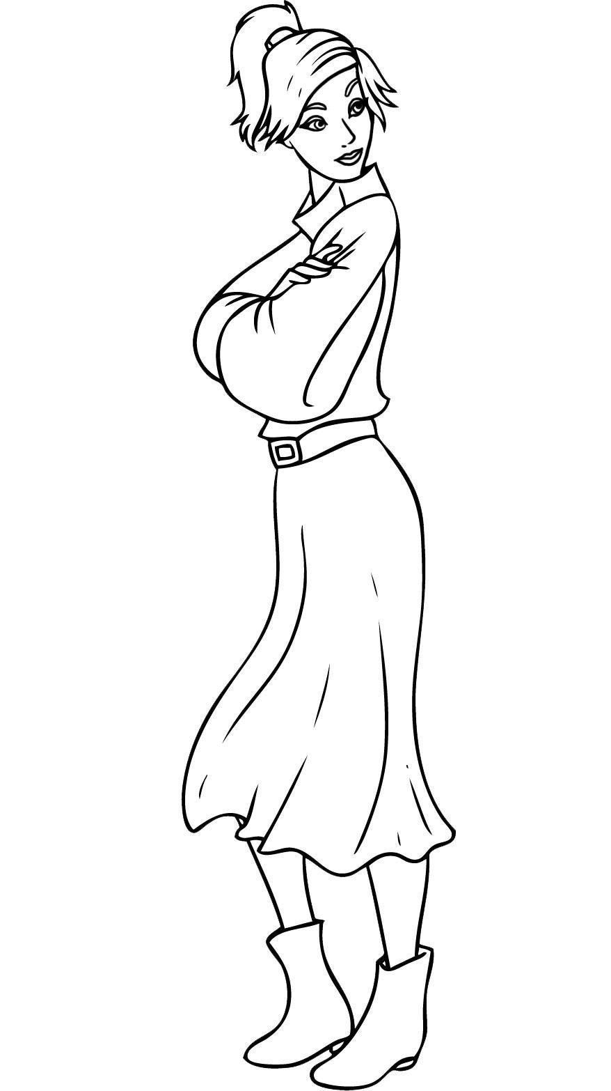 Anastasia coloriage