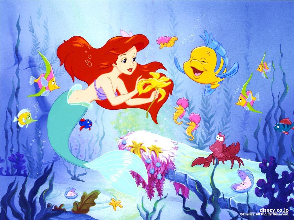 Coloriage Ariel En Couleur.Coloriage Ariel Et Polochon Gratuit A Imprimer