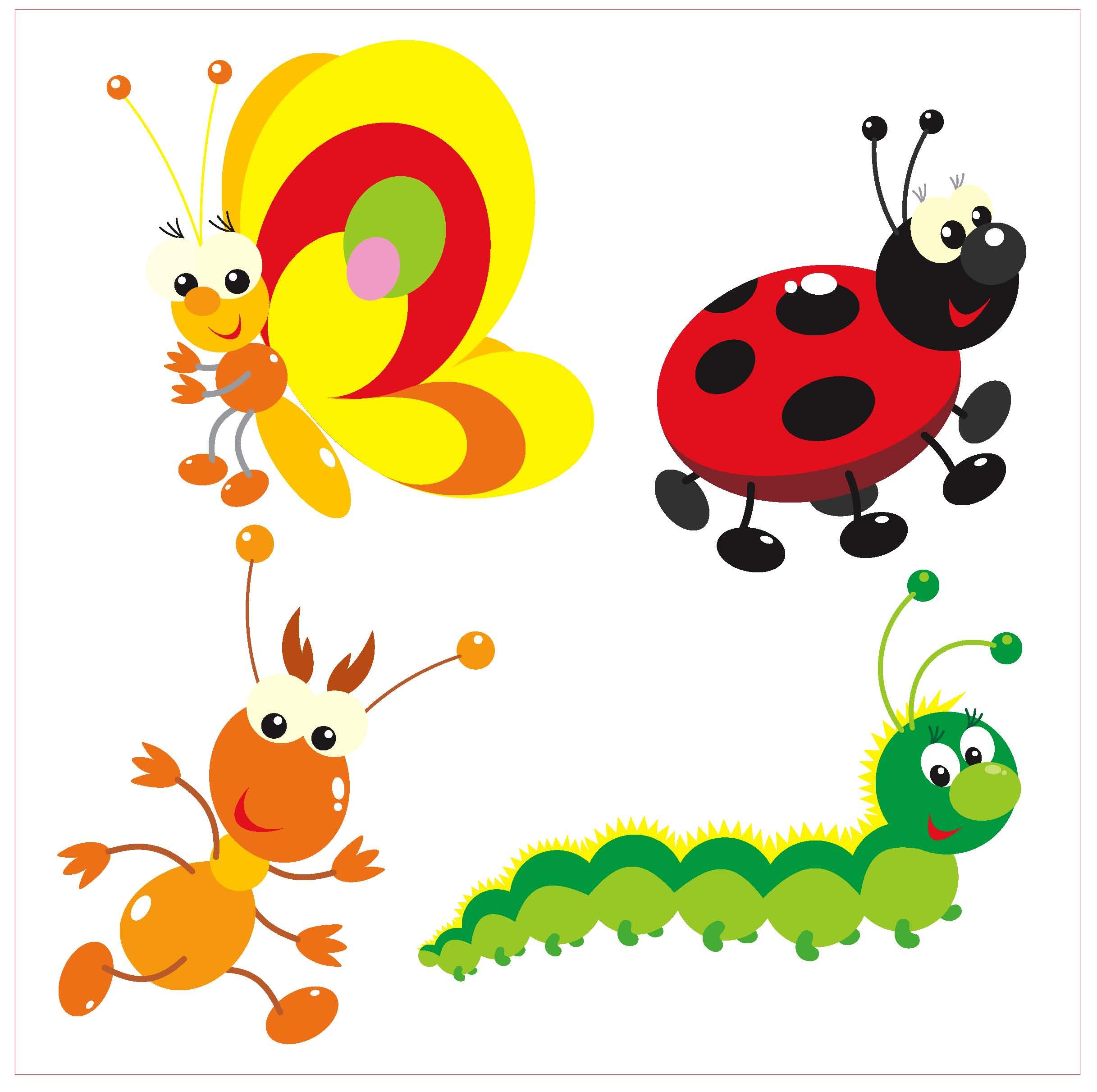 Coloriage Coccinelle Et Papillon A Imprimer