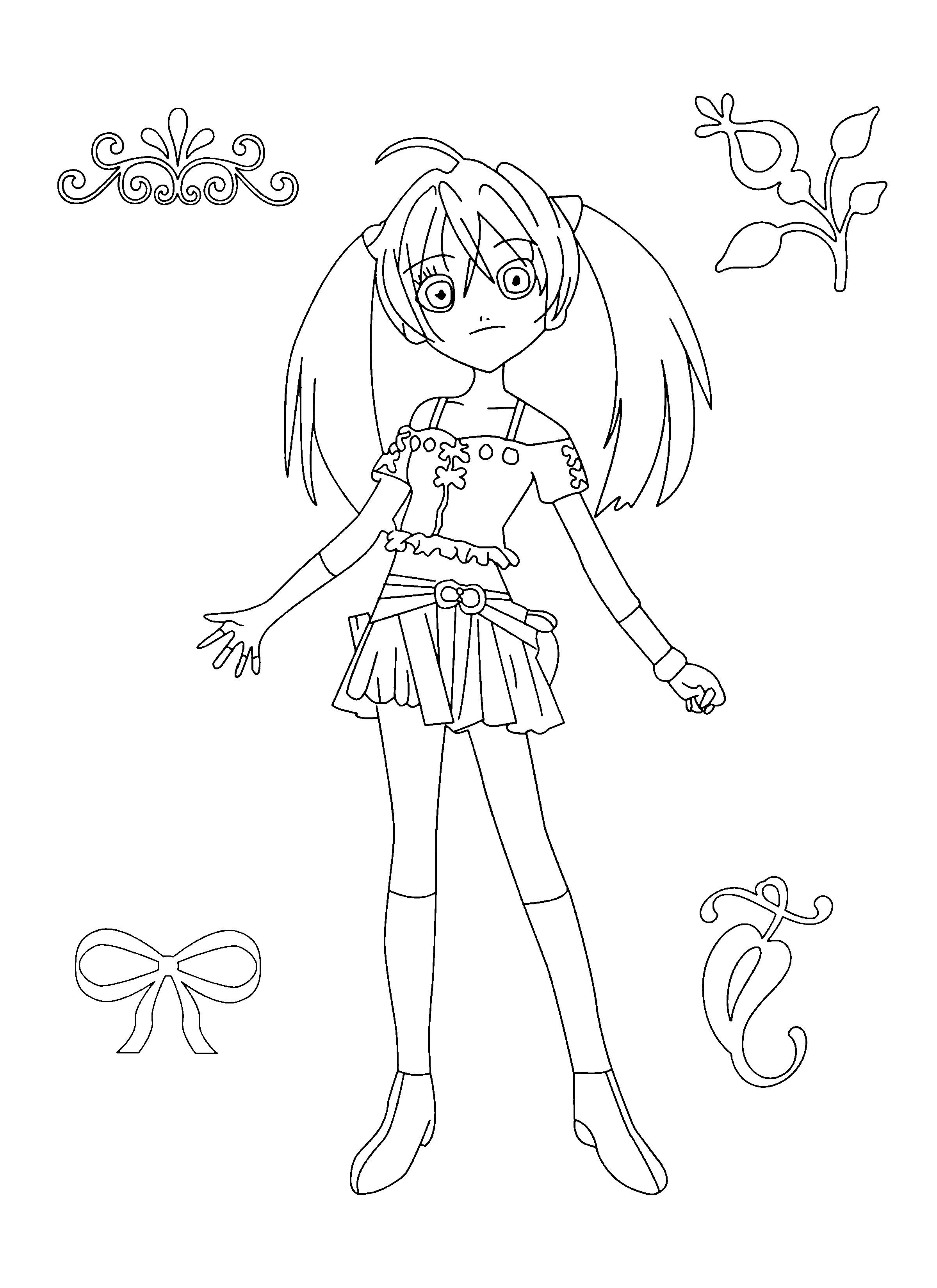 Coloriage Alice Bakugan