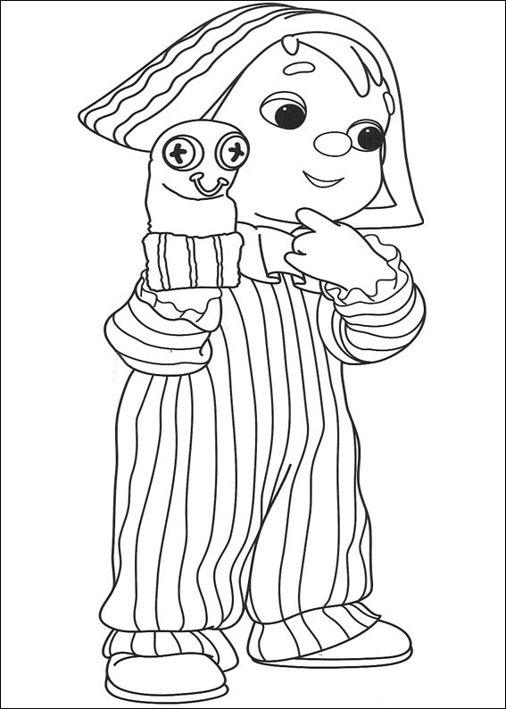 Coloriage Andy Pandy