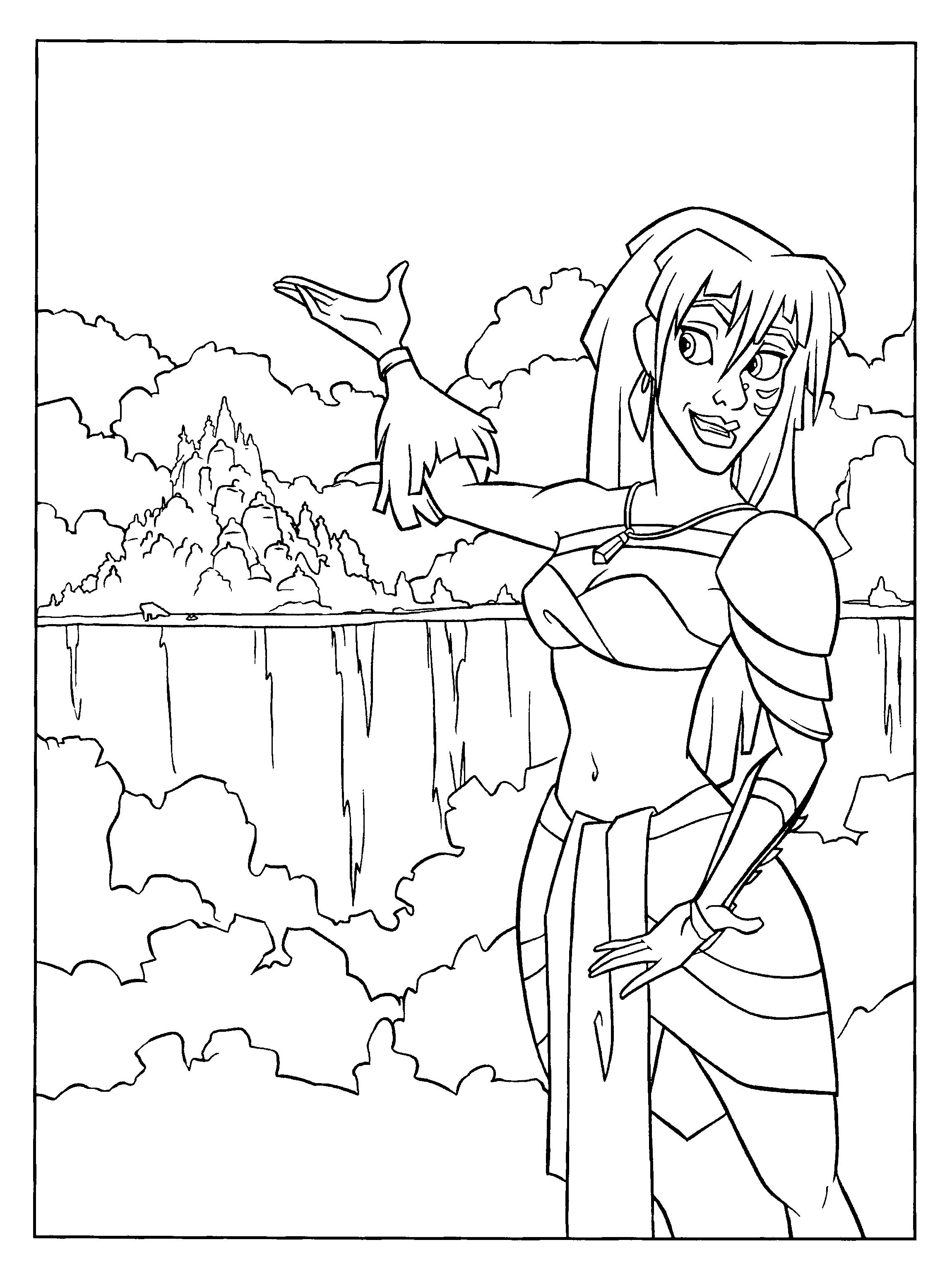 Coloriage Atlantis Kida