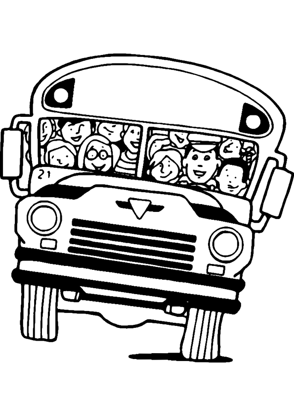 Coloriage autobus scolaire