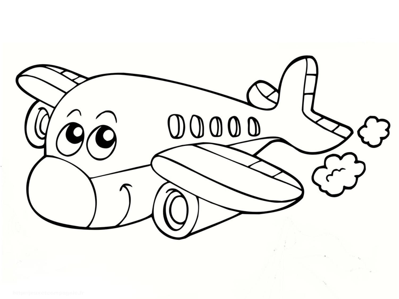 Coloriage avion marrant