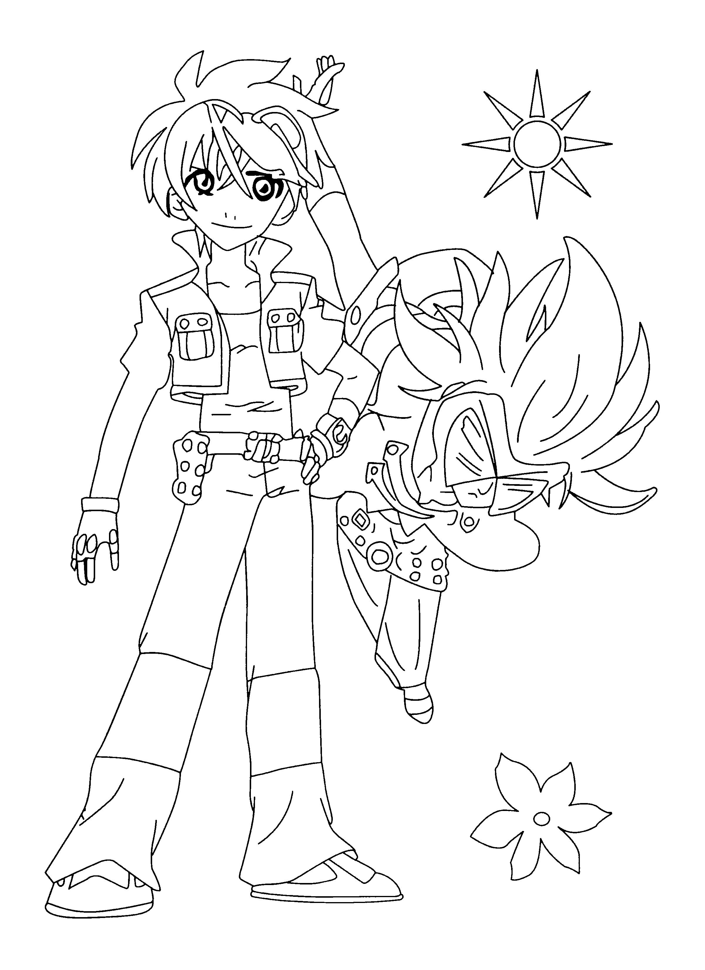 Coloriage Bakugan Dan