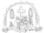 Coloriage bapteme religieux
