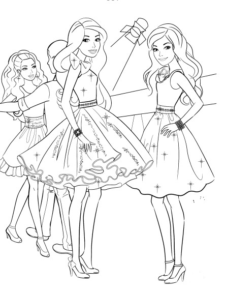 Coloriage Barbie bal