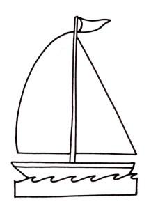 Coloriage bateau voilier