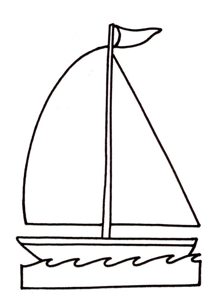 Coloriage bateau voilier imprimer - Dessin bateau enfant ...