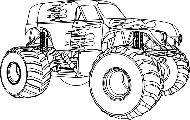 Coloriage bigfoot voiture imprimer - Pagina da colorare di monster truck ...