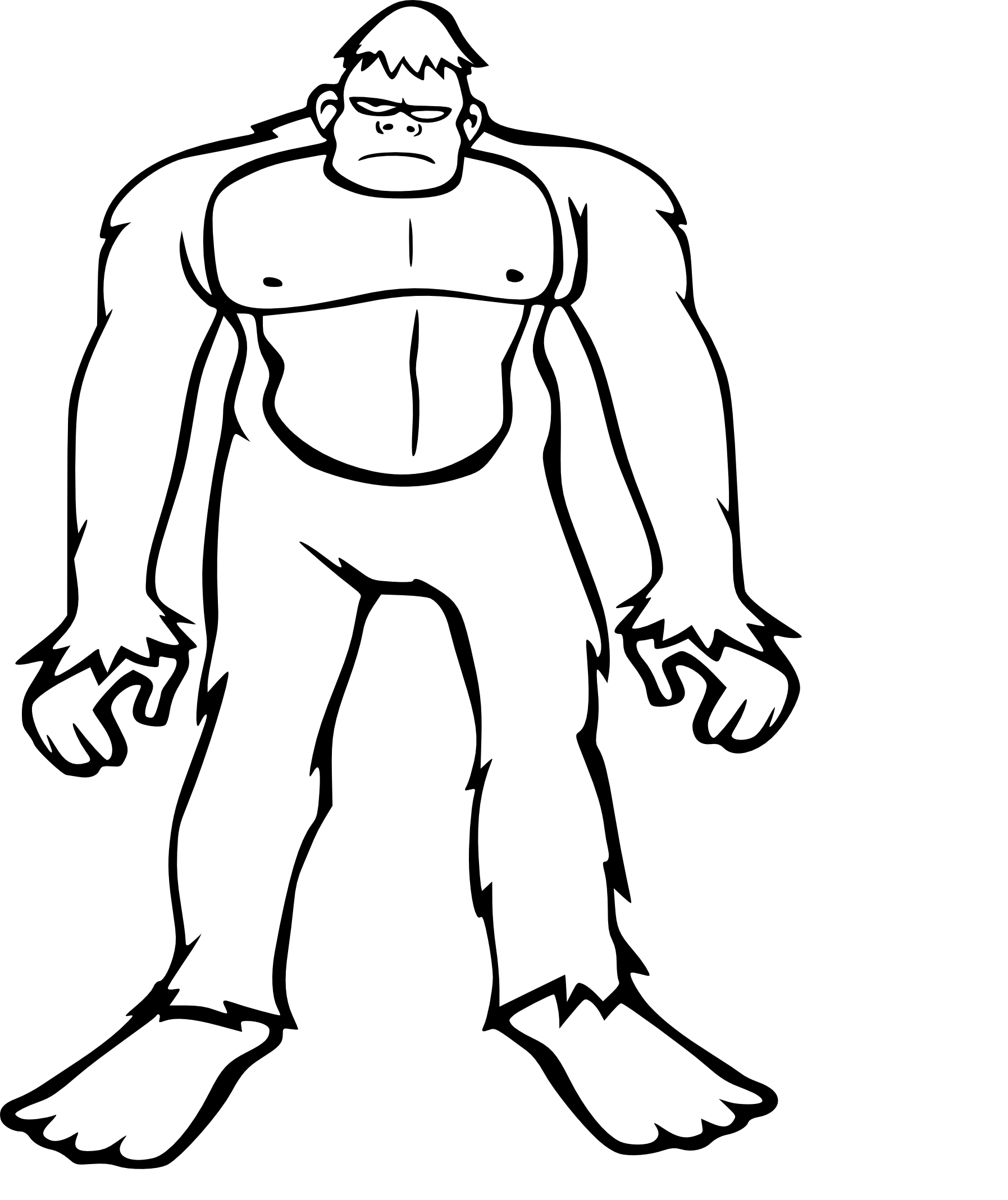 Coloriage bigfoot