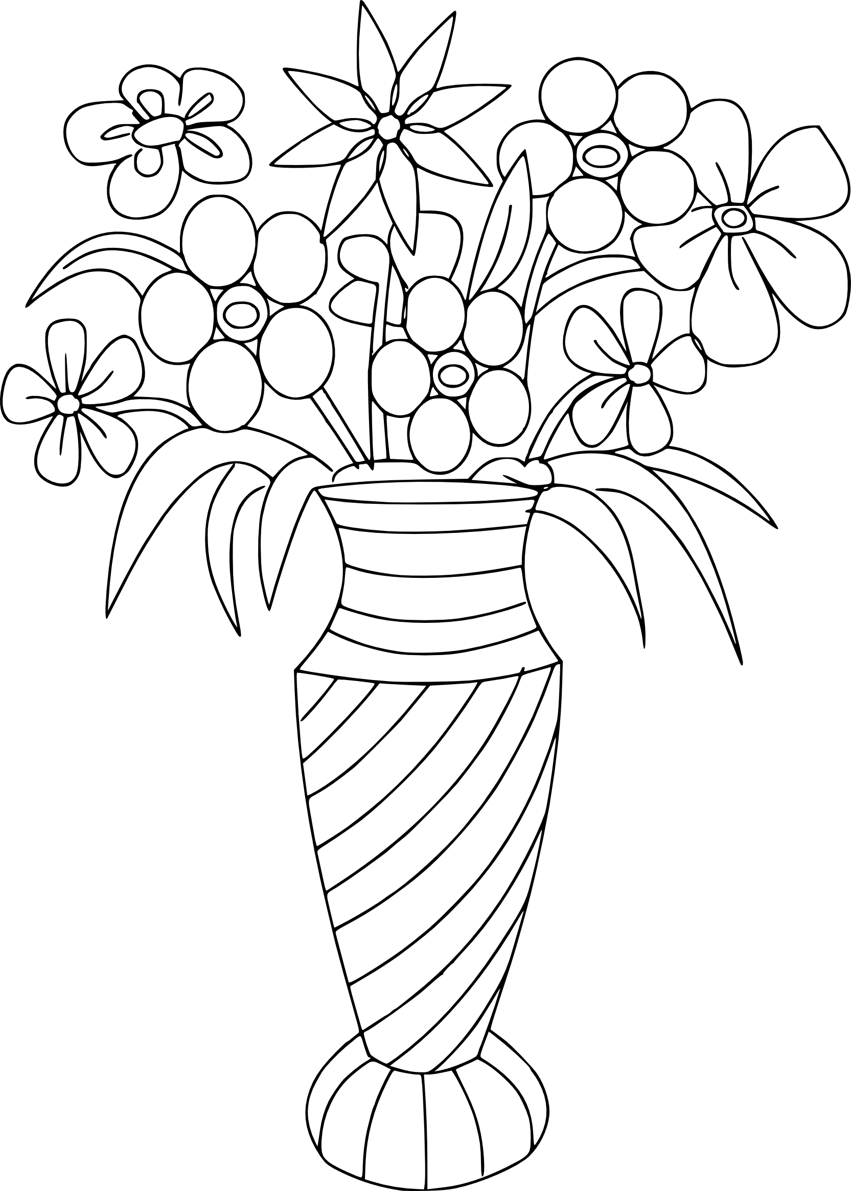 coloriage bouquet de fleurs imprimer. Black Bedroom Furniture Sets. Home Design Ideas