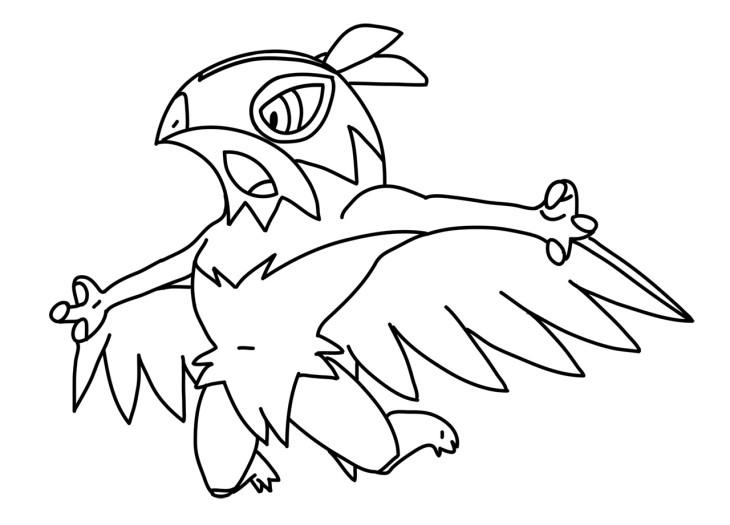 Mega Hawlucha Pokemon Coloring