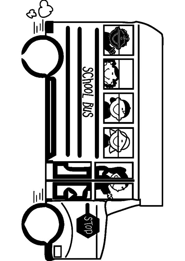 Coloriage bus scolaire imprimer - Autobus scolaire dessin ...