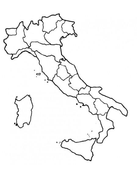 Coloriage carte Italie