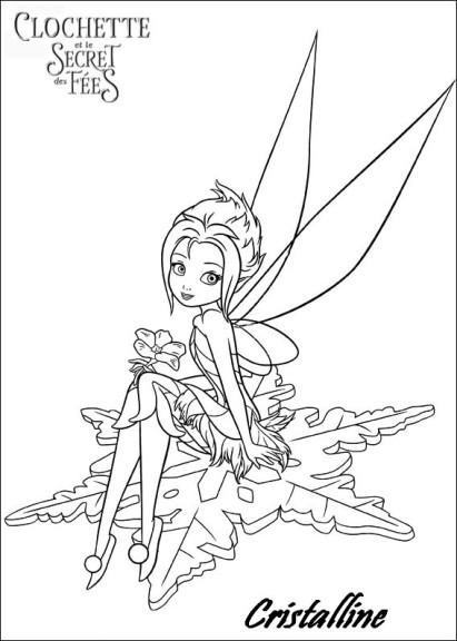 Coloriage fée clochette et le secret des fées Cristalline
