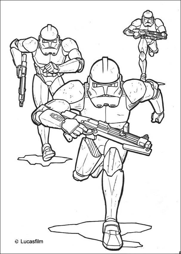 Coloriage Clone Star Wars
