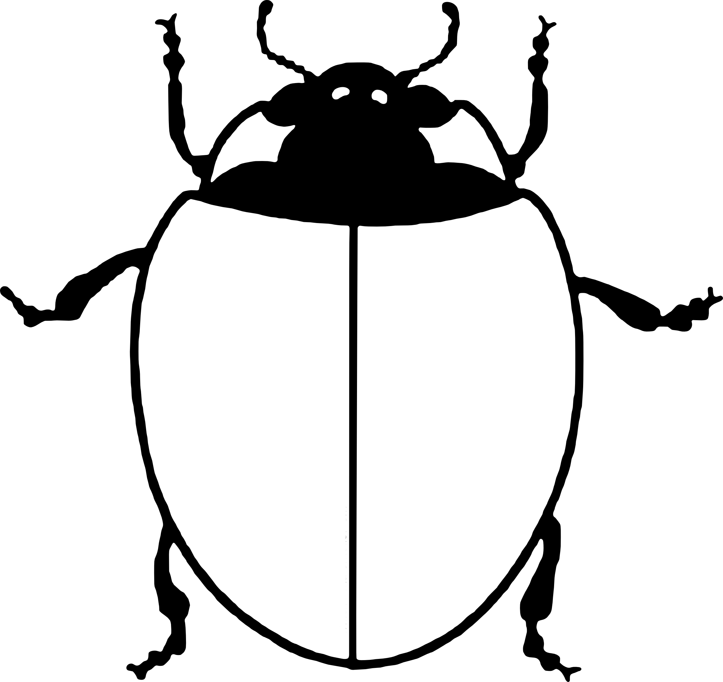 Coloriage Coccinelle Sans Point à Imprimer