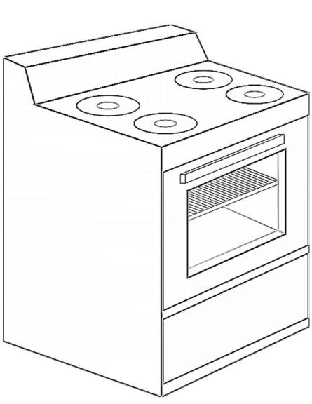 Coloriage cuisinière four