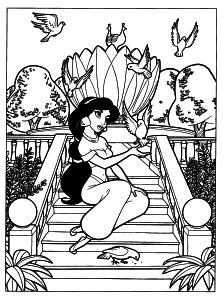 Coloriage de Jasmine Aladdin