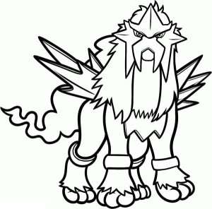 Coloriage Entei Pokemon