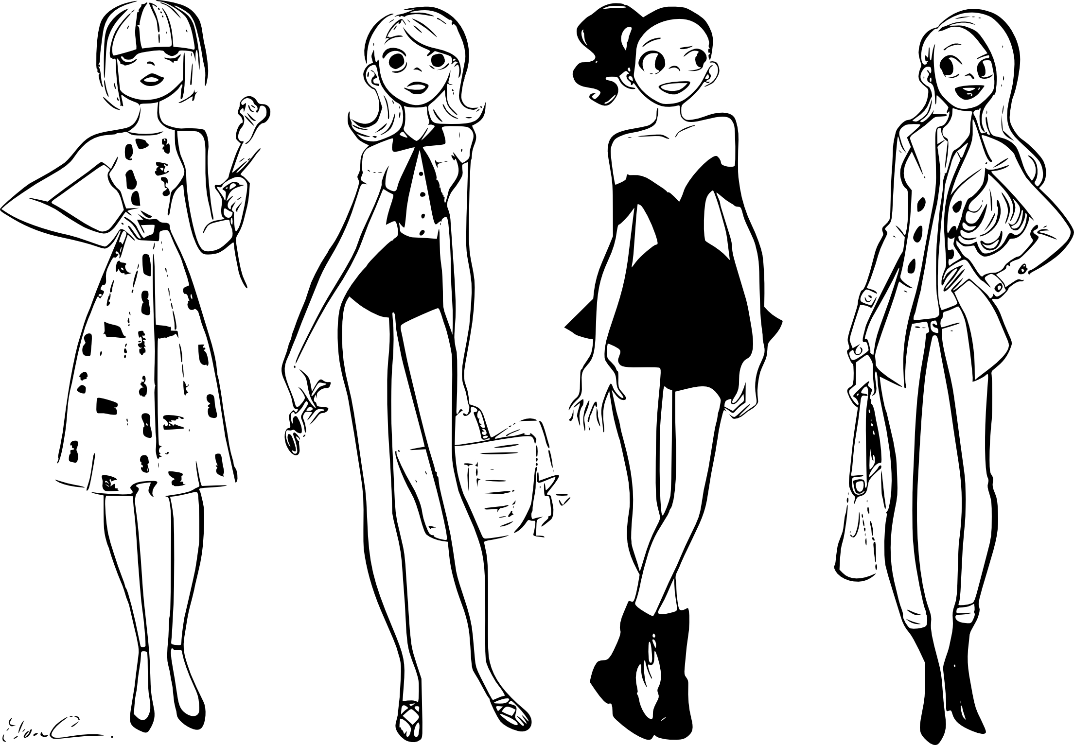 Coloriage fashion