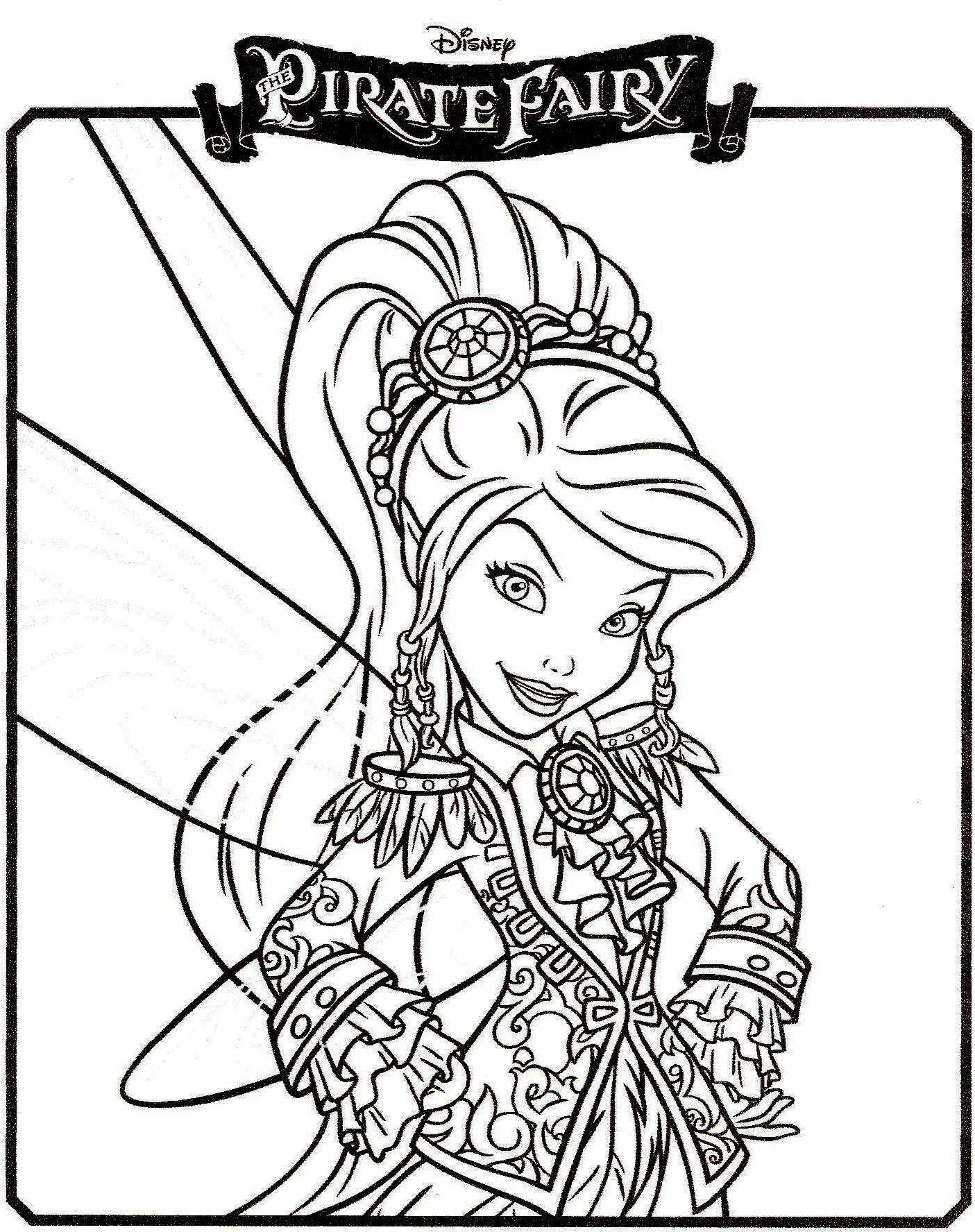 Coloriage fée pirate Vidia