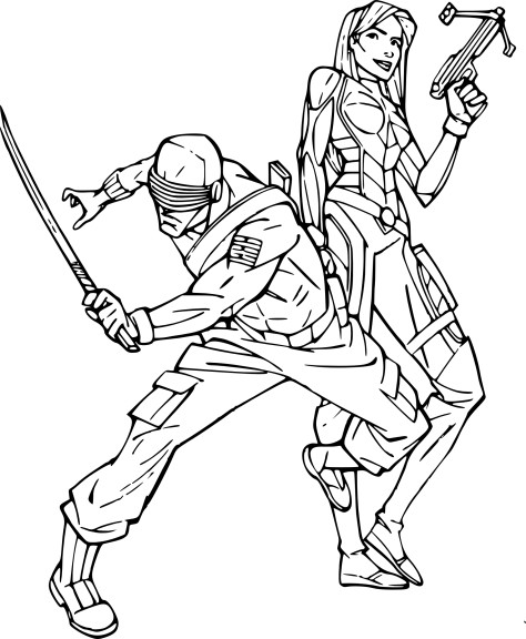 Coloriage Gi-Joe