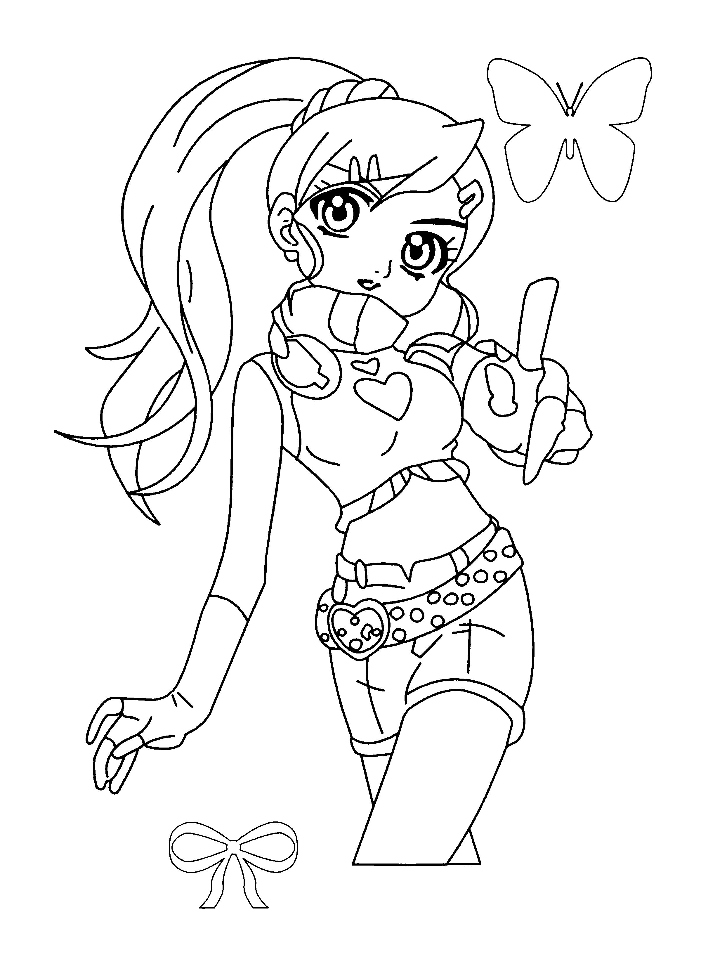 Coloriage Julie Bakugan