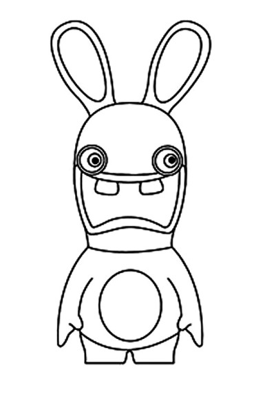 Coloriage lapins cretins