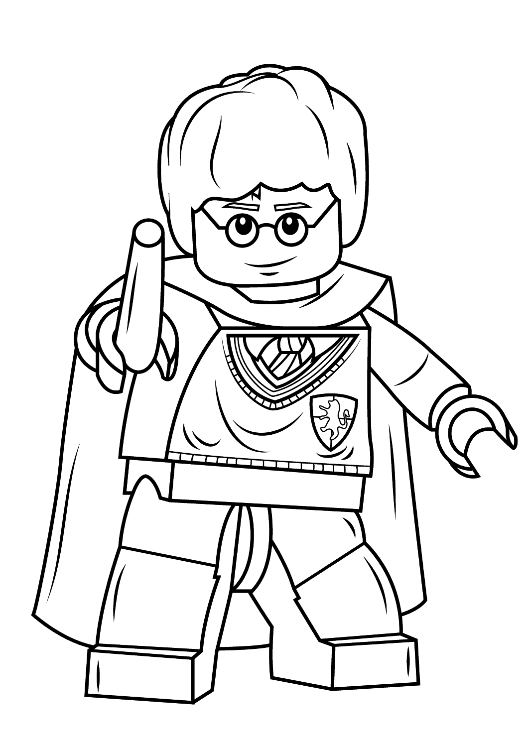 Coloriage lego harry potter imprimer - Coloriage harry potter ...