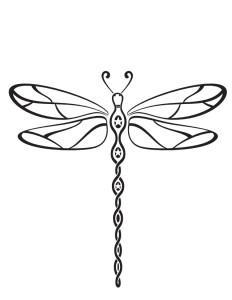 Coloriage libellule