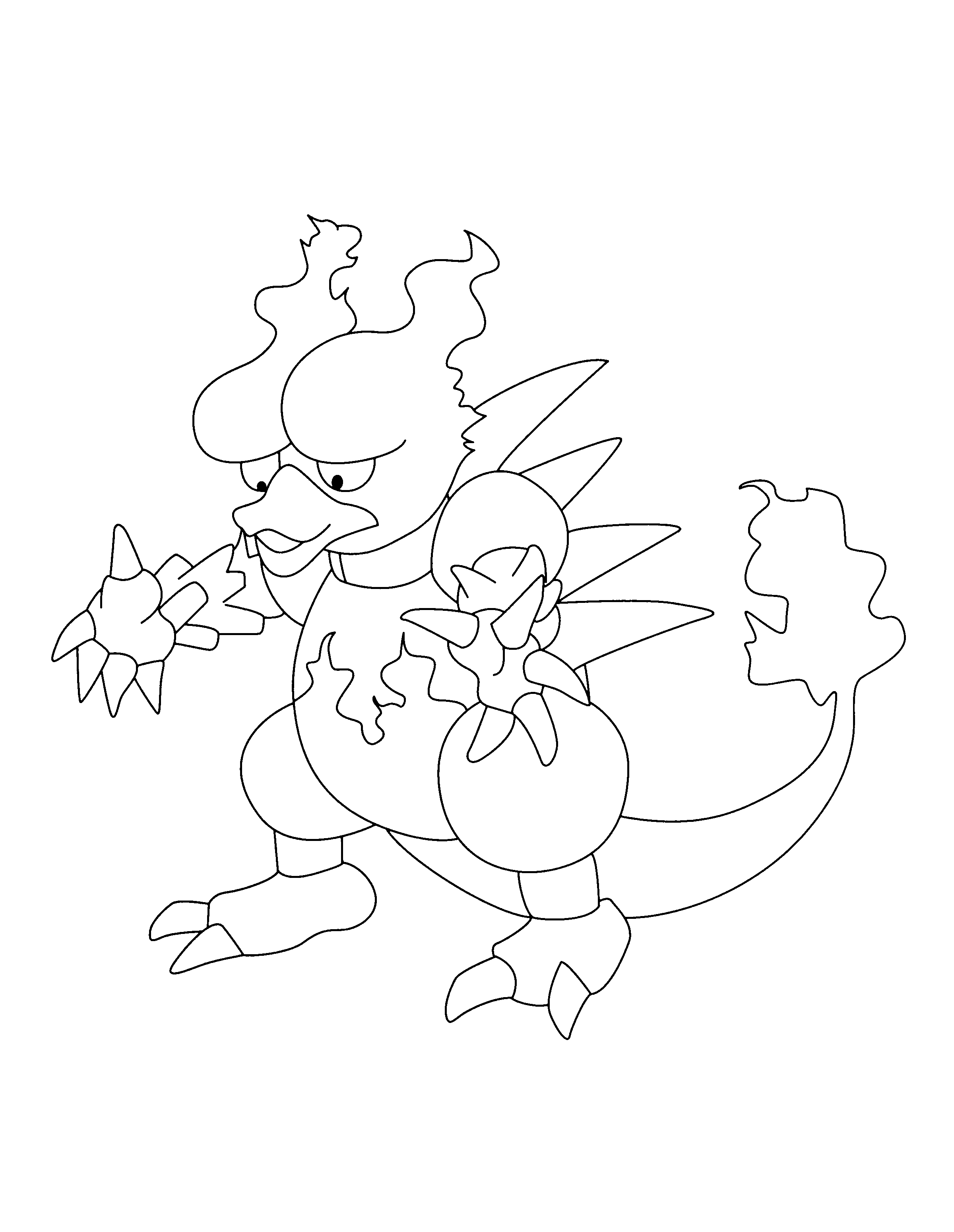 Coloriage Magmar