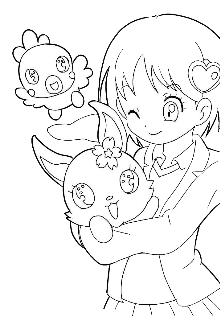 Coloriage Manga Jewelpet